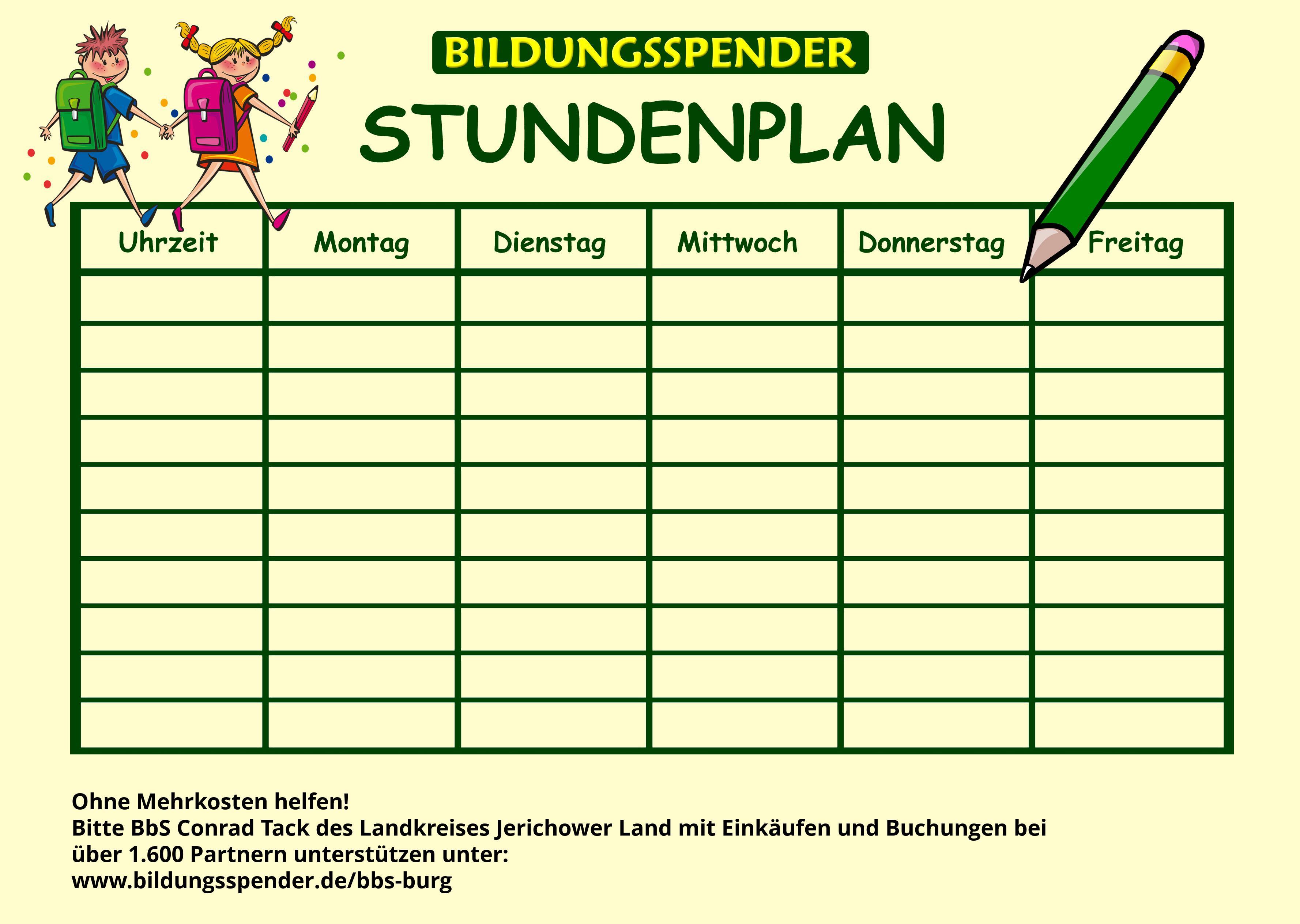 Stundenplangenerator für BbS Conrad Tack des Landkreises Jerichower Land