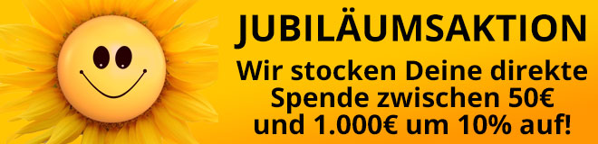 Jubiläums-Spendenaktion